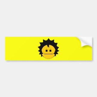 Moody Stoplight Trio Charlie Yellobellow Face Bumper Sticker