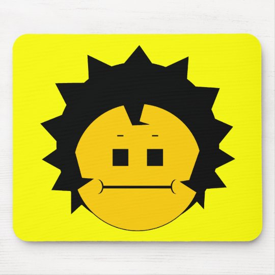 Moody Stoplight Trio Charlie Yellobellow Face Mouse Pad