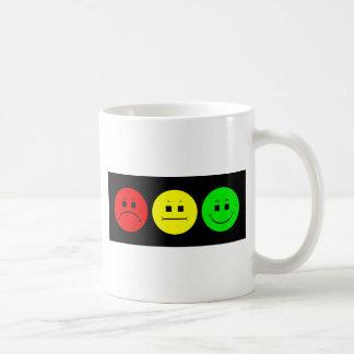 Moody Stoplight Trio Classic White Coffee Mug