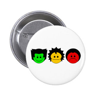 Moody Stoplight Trio Faces 2 Inch Round Button