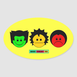 Moody Stoplight Trio Faces with Label Stickers