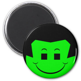 Moody Stoplight Trio Gordy Greenfalloon Face 2 Inch Round Magnet