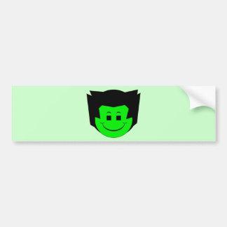 Moody Stoplight Trio Gordy Greenfalloon Face Bumper Sticker