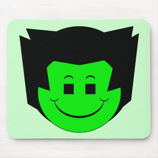 Moody Stoplight Trio Gordy Greenfalloon Face Mouse Pad