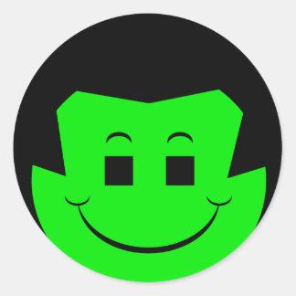Moody Stoplight Trio Gordy Greenfalloon Face Sticker