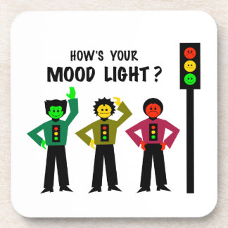 Moody Stoplight Trio How's Your Mood Light Drink Coaster