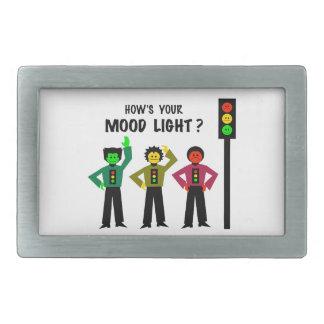 Moody Stoplight Trio How's Your Mood Light Rectangular Belt Buckle
