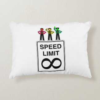 Moody Stoplight Trio Infinite Speed Limit Decorative Pillow