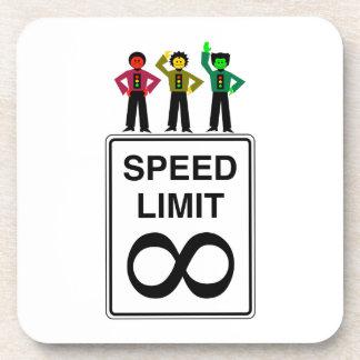 Moody Stoplight Trio Infinite Speed Limit Drink Coaster
