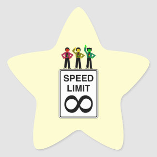 Moody Stoplight Trio Infinite Speed Limit Star Sticker