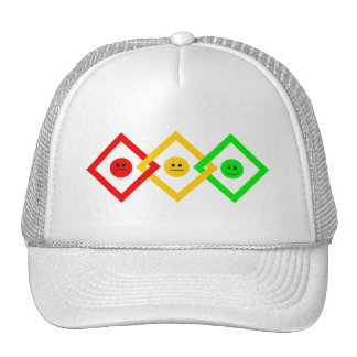 Moody Stoplight Trio Interlinked Trucker Hat