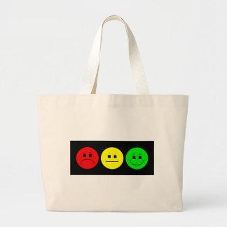 Moody Stoplight Trio Large Tote Bag