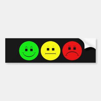 Moody Stoplight Trio Lefty Green Bumper Sticker