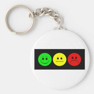 Moody Stoplight Trio Lefty Green Keychain