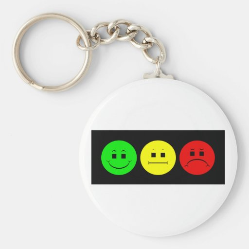Moody Stoplight Trio Lefty Green Basic Round Button Keychain