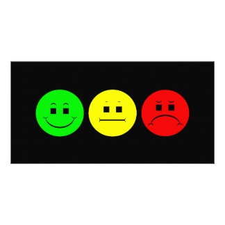 Moody Stoplight Trio Lefty Green Photo Card