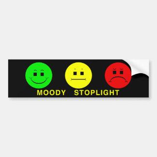 Moody Stoplight Trio Lefty Green with Caption Bumper Sticker