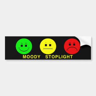 Moody Stoplight Trio Lefty Green with Caption Bumper Sticker