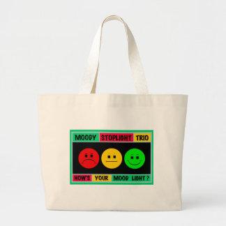Moody Stoplight Trio Logo Large Tote Bag