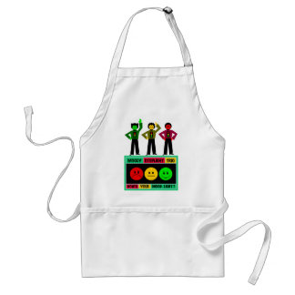 Moody Stoplight Trio Logo with Characters Adult Apron