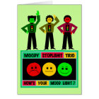 Moody Stoplight Trio Logo with Characters Card