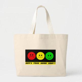 Moody Stoplight Trio Mood Light Tote Bags