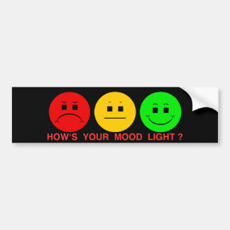 Moody Stoplight Trio Mood Light Bumper Stickers