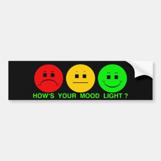 Moody Stoplight Trio Mood Light Bumper Sticker