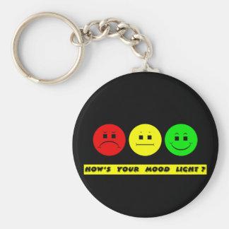 Moody Stoplight Trio Mood Light Keychain