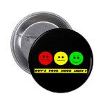 Moody Stoplight Trio Mood Light Pinback Button