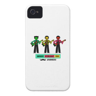 Moody Stoplight Trio Mustachio Guitar Players 1 iPhone 4 Cover