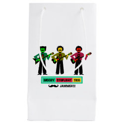 Moody Stoplight Trio Mustachio Guitar Players 1 Small Gift Bag