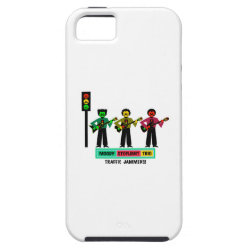 Moody Stoplight Trio Mustachio Guitar Players 2 iPhone SE/5/5s Case
