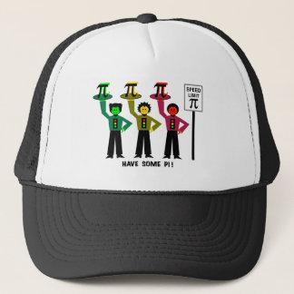 Moody Stoplight Trio Next To Speed Lim Pi Sign w/C Trucker Hat