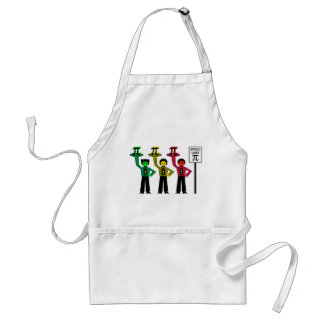 Moody Stoplight Trio Next to Speed Limit Pi Sign Adult Apron