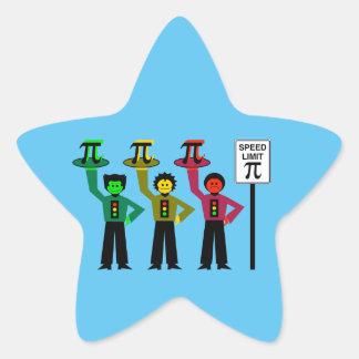 Moody Stoplight Trio Next to Speed Limit Pi Sign Star Sticker