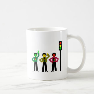 Moody Stoplight Trio Next to Stoplight Coffee Mug