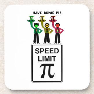 Moody Stoplight Trio On Speed Lim Pi Sign wCaption Drink Coaster