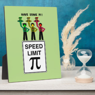 Moody Stoplight Trio On Speed Lim Pi Sign wCaption Plaque
