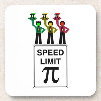 Moody Stoplight Trio On Speed Limit Pi Sign Beverage Coaster