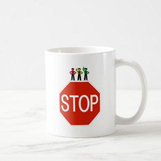 Moody Stoplight Trio On Stop Sign Coffee Mug