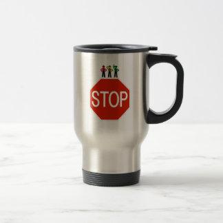 Moody Stoplight Trio On Stop Sign Travel Mug