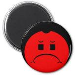 Moody Stoplight Trio Ron Buckstopper Face 2 Inch Round Magnet