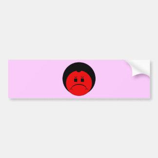 Moody Stoplight Trio Ron Buckstopper Face Bumper Sticker