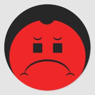 Moody Stoplight Trio Ron Buckstopper Face Round Stickers
