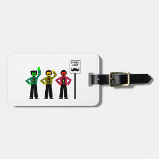 Moody Stoplight Trio Speed Limit Mustachio Luggage Tag