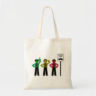 Moody Stoplight Trio Speed Limit Mustachio Tote Bag