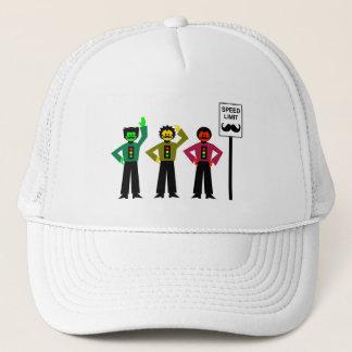 Moody Stoplight Trio Speed Limit Mustachio Trucker Hat