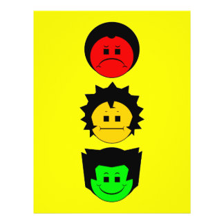 "Moody Stoplight Trio Vertical Faces 8.5"" X 11"" Flyer"
