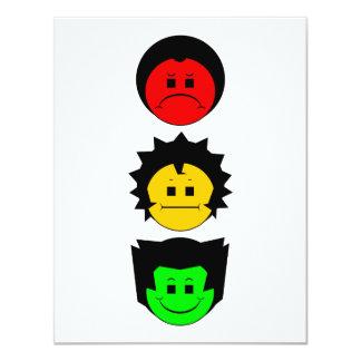 Moody Stoplight Trio Vertical Faces Card